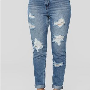 Blue Spice ripped skinny jeans